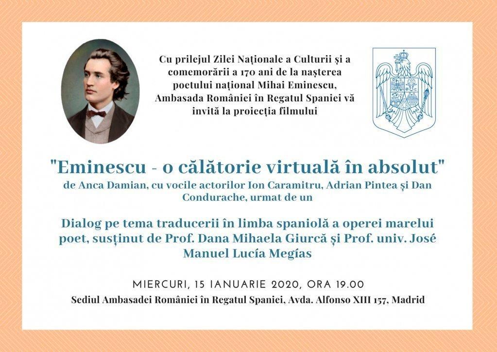 Eveniment 2020: 170 ani de la nașterea poetului Mihai Eminescu
