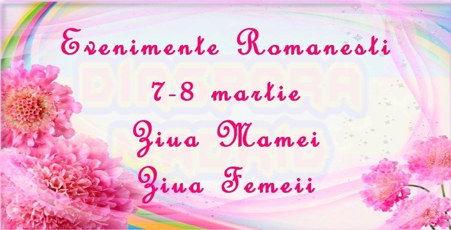 Evenimente românești 7-8 martie în Spania