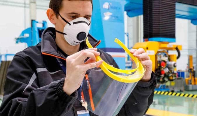 Airbus produce viziere medicale prin imprimare 3D