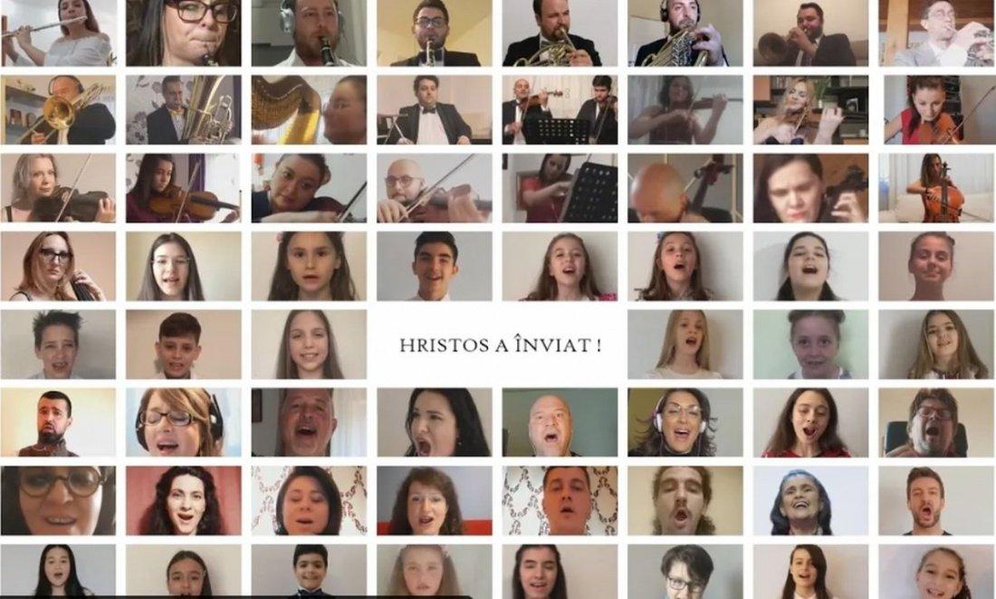 """100 de artiști români cântă """"Hristos a înviat"""". Moment muzical de excepție cu ocazia Sărbătorilor Pascale(video)"""