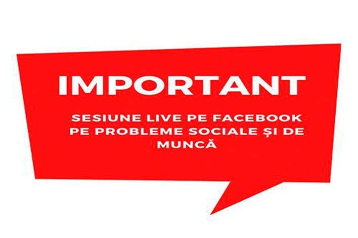 Sesiune live pe Facebook cu Ambasada. Întrebări și Răspunsuri pe probleme sociale și de muncă