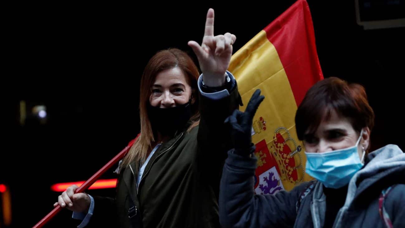 A șaptea zi de proteste la Madrid împotriva Guvernului condus de Pedro Sanchez