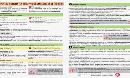Ghid în limba română privind activitatea în serviciul domestic și de îngrijire