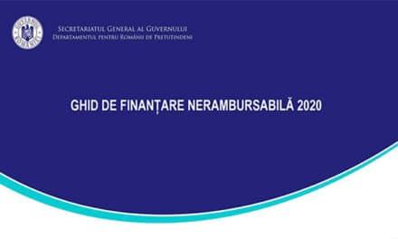 Departamentul pentru Românii de Pretutindeni dă startul celei de-a doua sesiuni de finanțare nerambursabilă pentru anul 2020
