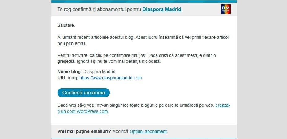 Abonament DiasporaMadrid.com