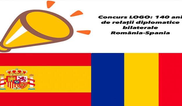 Concurs pentru comunitatea românească din Spania: Creație logo 140 ani de relații diplomatice România-Spania