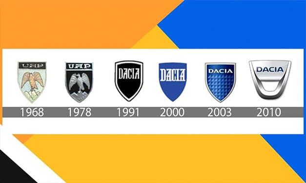 Evolutia logo-ului marcii Dacia de-a lungul anilor