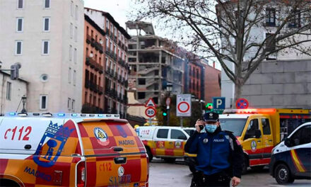 O explozie puternică în centrul Madridului a distrus mai multe etaje ale unei clădiri