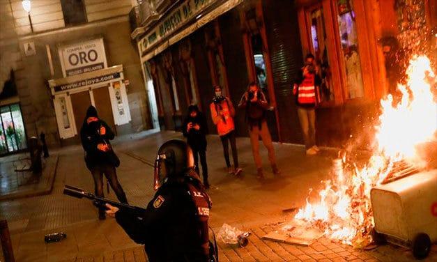 Madridul s-a alăturat Barcelonei. Proteste în susținerea lui Pablo Hasel și în capitala Spaniei