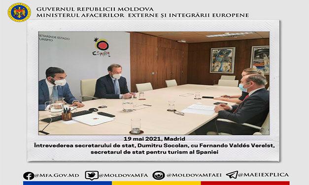 Moldova și Spania ar putea semna un memorandum de cooperare în domeniul turismului