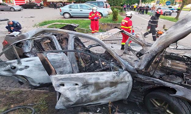 Om de afaceri mort în urma exploziei autoturismului în care se afla la Arad