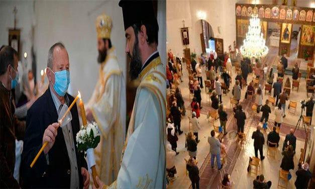 Românii din Madrid s-au rugat împreună cu episcopul lor la slujba de Înviere 2021