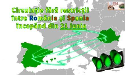 Circulație fără restricții între Romănia și Spania, începănd din 21 iunie