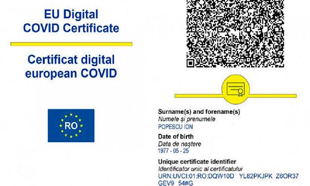 Doar cu certificate digitale la trecerea frontierelor din UE începând de vineri, 13 august