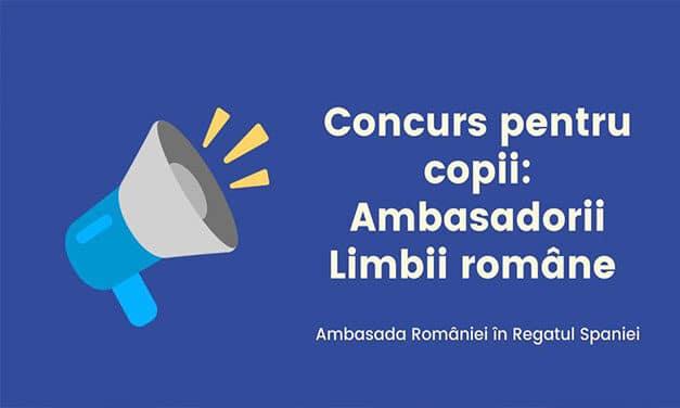 Concurs pentru copii organizat de ambasadă: Ambasadorii Limbii Române!