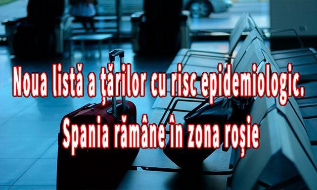 Noua listă a țărilor cu risc epidemiologic. Trei noi state pe lista roşie! Spania rămâne în zona roșie