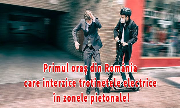 Orașul din România care interzice trotinetele electrice în zonele pietonale şi de promenadă