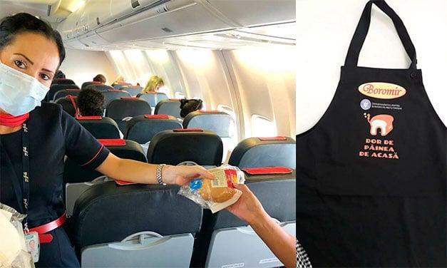 Români întâmpinați cu pâine și sare la intrarea în spațiul aerian românesc!