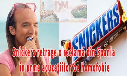 Snickers retrage o reclamă din Spania în urma acuzațiilor de homofobie(video)