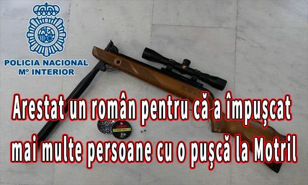 Arestat un român pentru că a împușcat mai multe persoane cu o pușcă la Motril