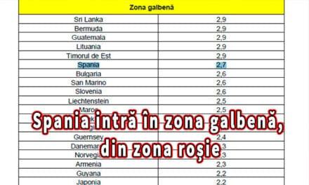 Spania intră în zona galbenă, din zona roșie, conform Hotărârii nr. 66. Vezi care sunt principalele modificări!