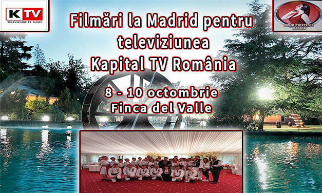 Filmări la Madrid 2021 pentru televiziunea națională Kapital TV România
