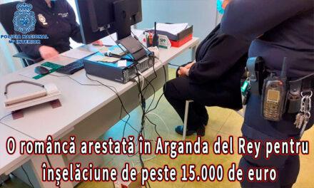 O româncă arestată în Arganda del Rey pentru înșelăciune de peste 15.000 de euro